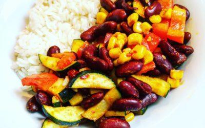 Vegane Reispfanne