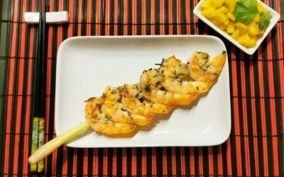 Garnelen mit Mango Salsa